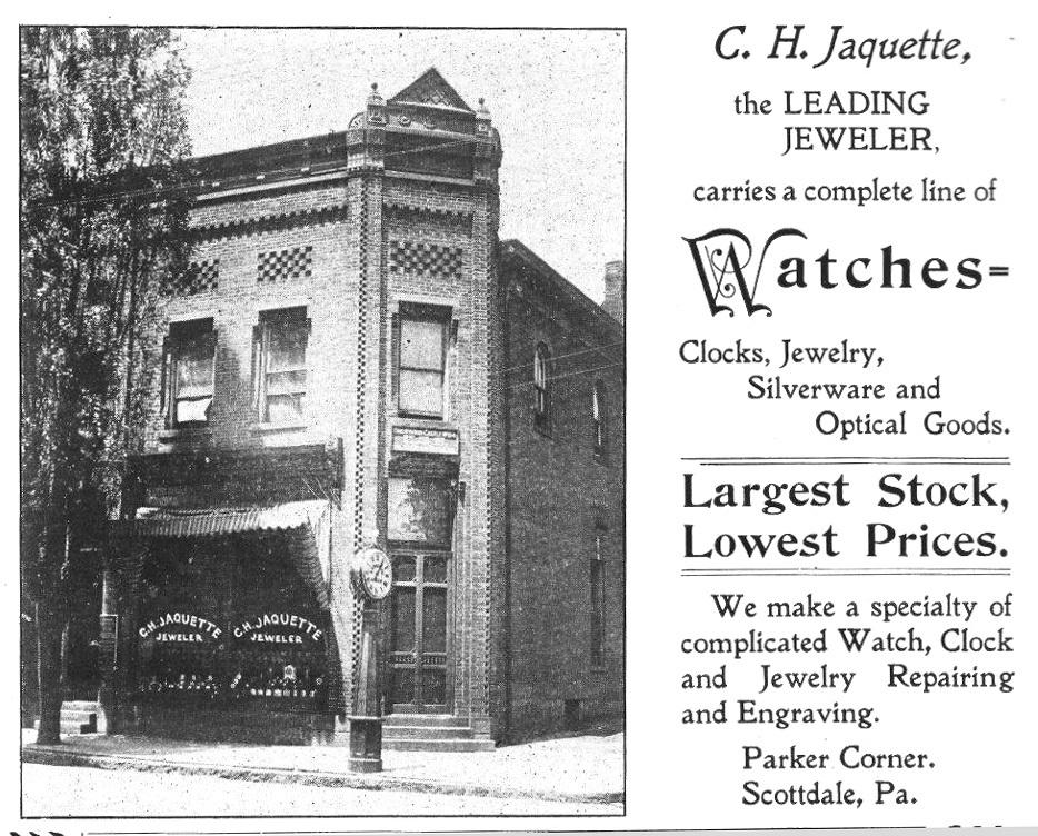 C.H. Jaquette Jeweler Ad